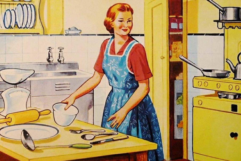 domacica u kuhinji