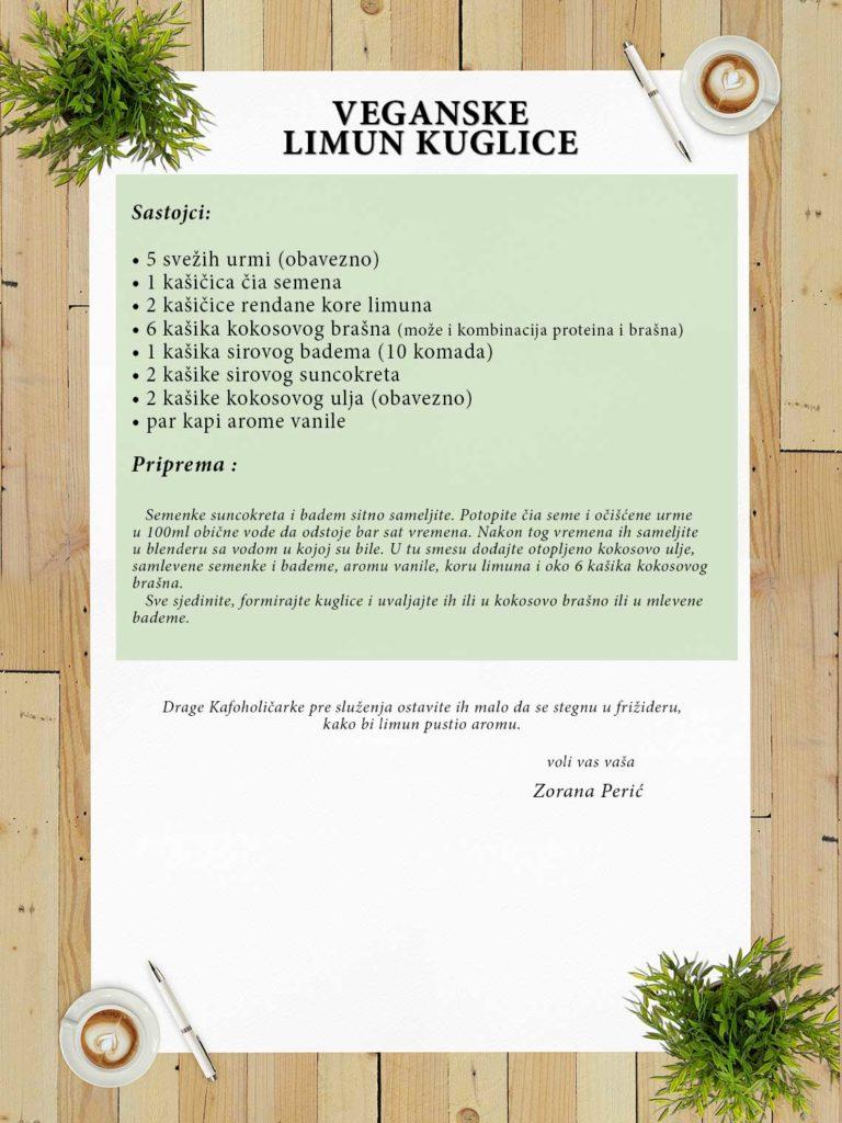 Recept za veganske limun kuglice